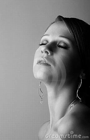 Girl With Eyes Closed Experiencing Pleasure Royalty Free Stock Photography - Image: 21965187