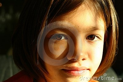 Girl face - expressive eyes