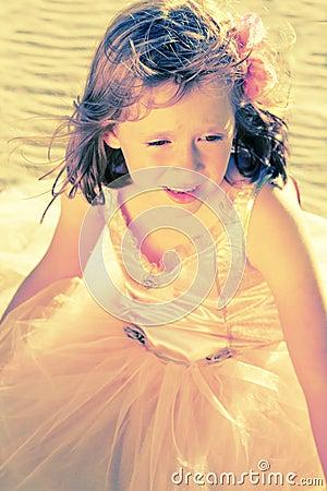 Girl in fairy ballerina dress