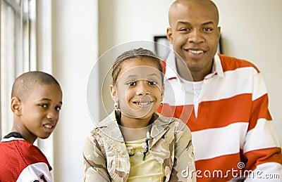 Girl and family - girl sharp