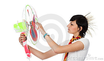 The girl with the fan