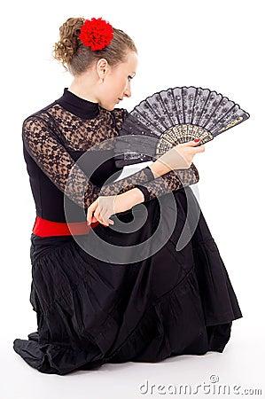 Girl with a Fan dancing carmen