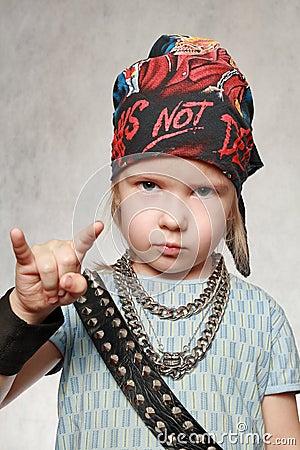Girl-fan of rock-music