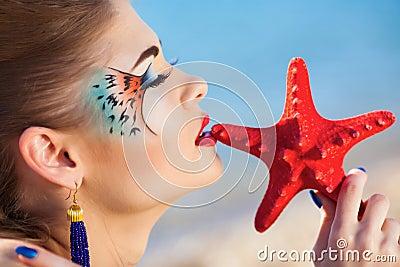 Girl with fantasy make-up