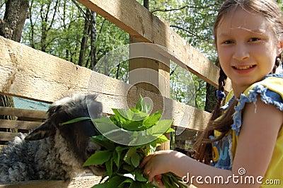 The girl on the farm
