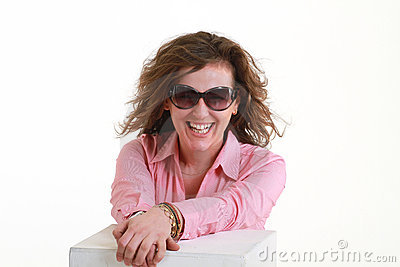 Girl with fashion glasses