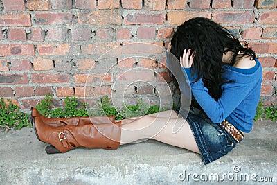 Girl feeling frustrated