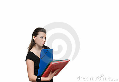 Girl with file