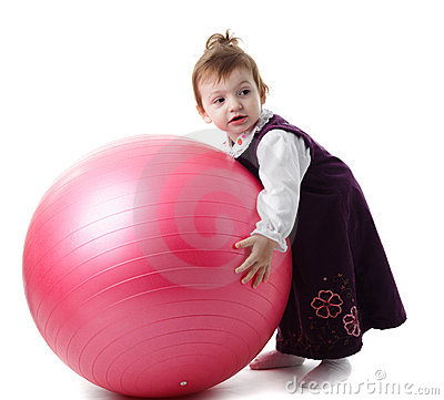 Girl and fitball