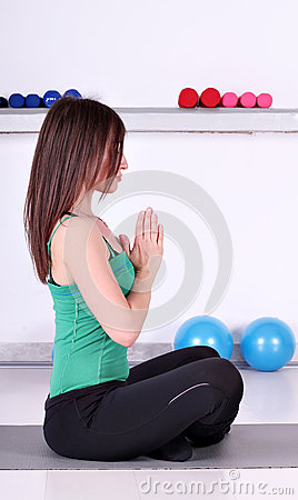 Girl Fitness Exercise Royalty Free Stock Photo - Image: 24624535