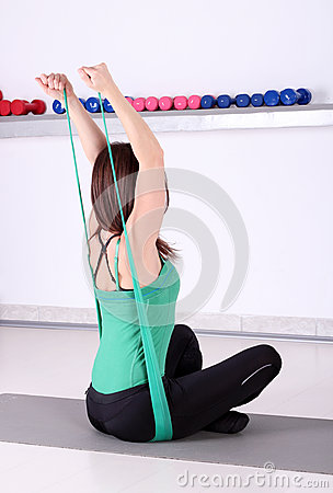 Girl fitness exercise healthy lifestyles