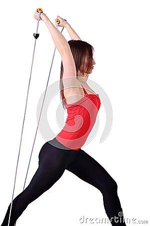 Girl fitness recreation