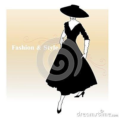 Girl in a flared dress
