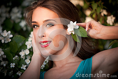 Girl with flower