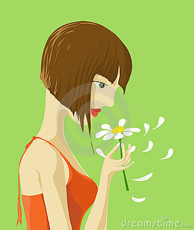 A Girl with Flower