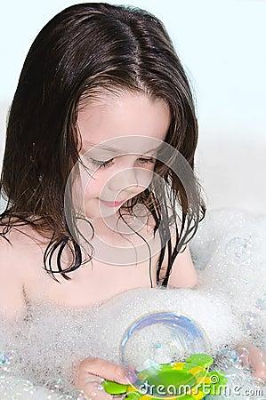 Girl in the foam