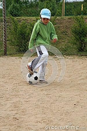 Girl and football