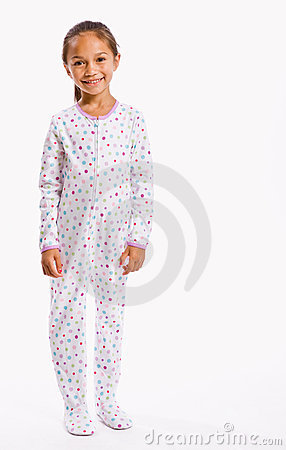 Girl In Footie Pajamas Stock Photography - Image: 7730932