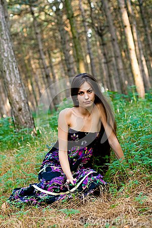 Girl at the forest