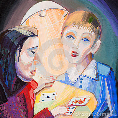 The girl at the fortuneteller