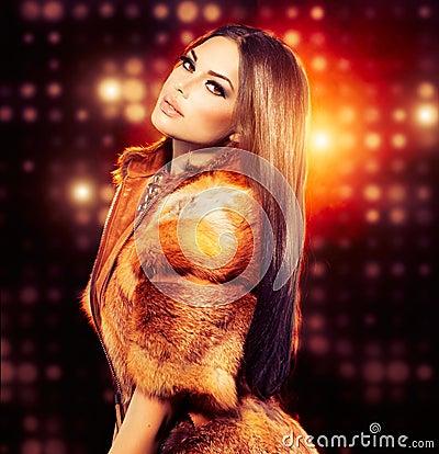 Girl in Fox Fur Coat
