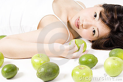 Girl With Fruit 1