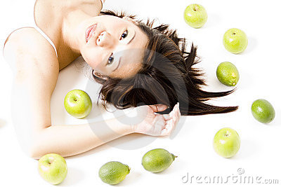 Girl With Fruit 4