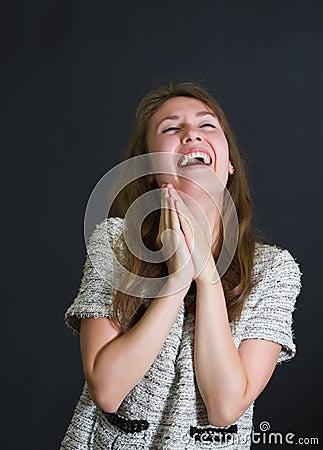 Girl fun laughing