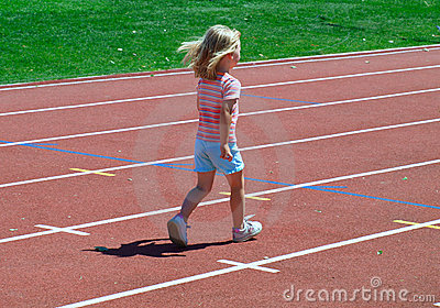 Girl on the fun run Editorial Stock Photo
