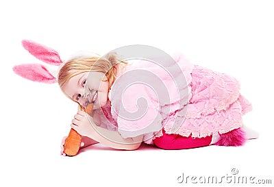 Girl in funcy suit
