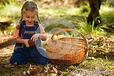 Girl with fungi