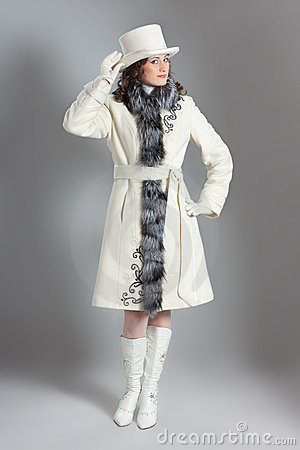 Girl in fur coat