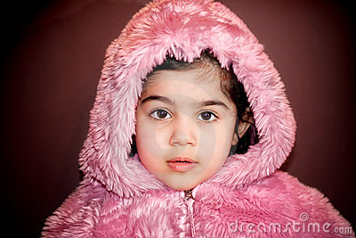 Girl in furry jacket