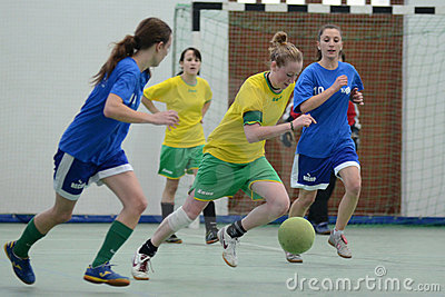 Girl futsal competition Editorial Image