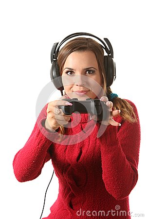 Girl with a gamepad