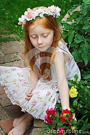 Girl in Garden 2