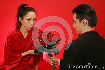 Girl gets roses