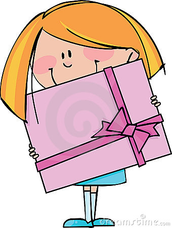 Girl with gift