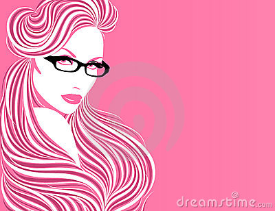 Girl in glasses.