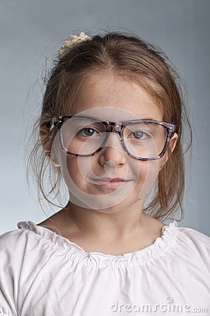 Girl with glasses and special look