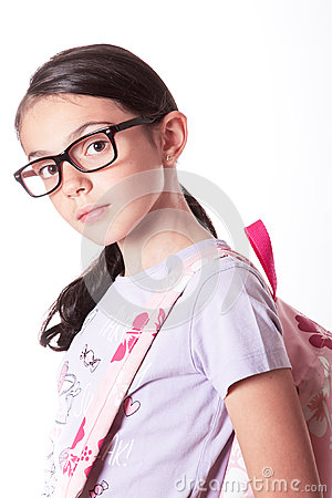 Girl With Glasses Stock Photo Image 44803935