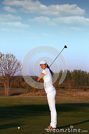 Girl golfer