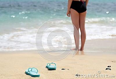 Girl gone swimming
