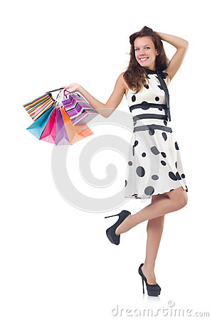 Girl after good shopping