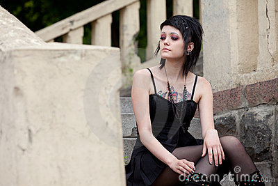 Girl in gothic style
