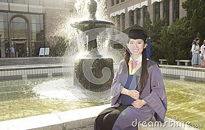 A girl graduate