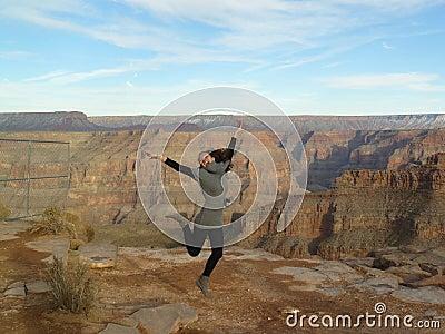 Girl at Grand canyon
