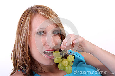 Girl With Grapes Stock Photography - Image: 26112552