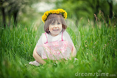 Girl in green grass