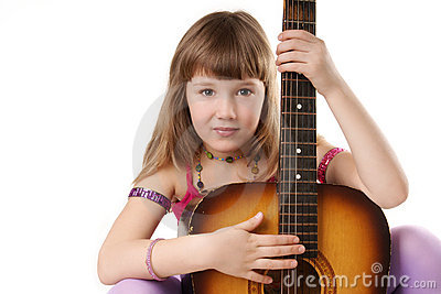Girl with guitar